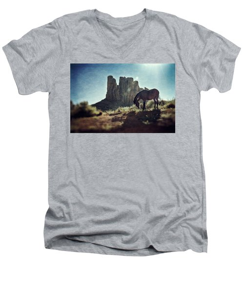 Greetings From The Wild West Men's V-Neck T-Shirt