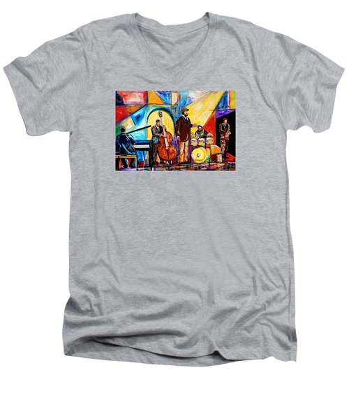 Gregory Porter And Band Men's V-Neck T-Shirt by Everett Spruill
