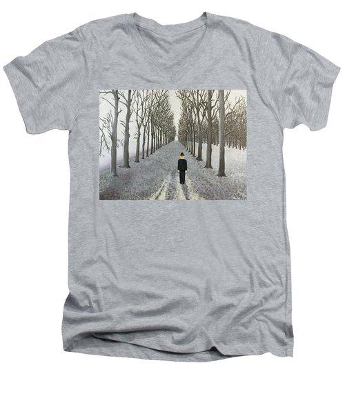 Grey Day Men's V-Neck T-Shirt by Thomas Blood