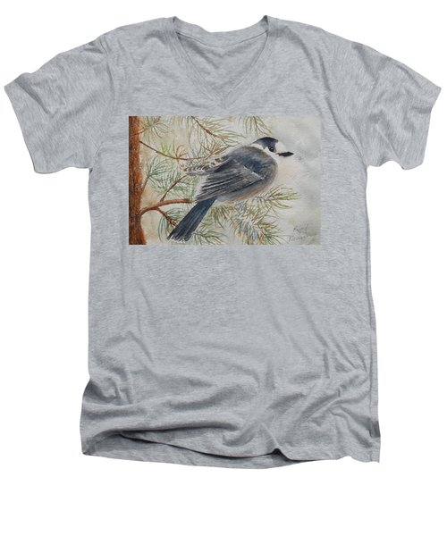 Grey Jay Men's V-Neck T-Shirt