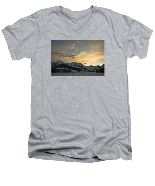 Grey Wolf Lake Men's V-Neck T-Shirt