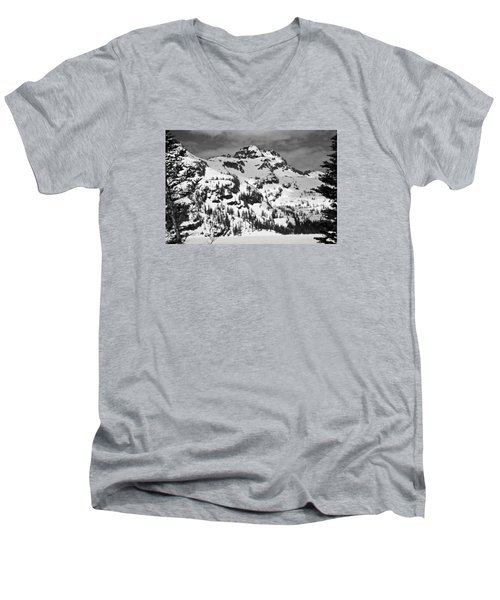 Grey Wolf Peak, Mission Mountains Men's V-Neck T-Shirt