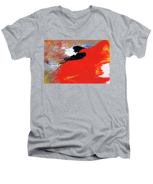 Grid Men's V-Neck T-Shirt
