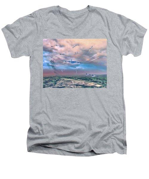 Griffiss Afb Rome Ny Men's V-Neck T-Shirt by Dave Luebbert