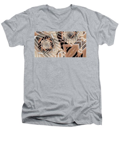 Men's V-Neck T-Shirt featuring the digital art Grilled by Ron Bissett