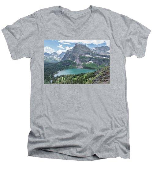 Grinnell Lake From Afar Men's V-Neck T-Shirt