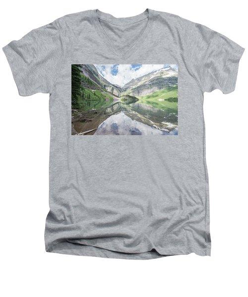 Grinnell Lake Mirrored Men's V-Neck T-Shirt