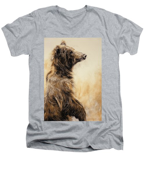Grizzly Bear 2 Men's V-Neck T-Shirt