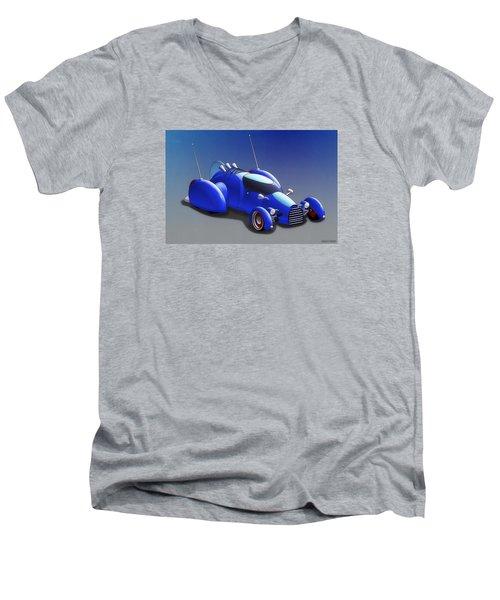 Grobo-car Men's V-Neck T-Shirt by Ken Morris