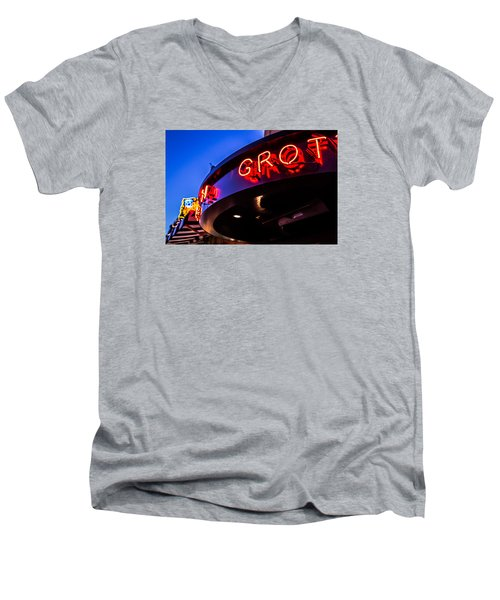Grotto - Night View Men's V-Neck T-Shirt