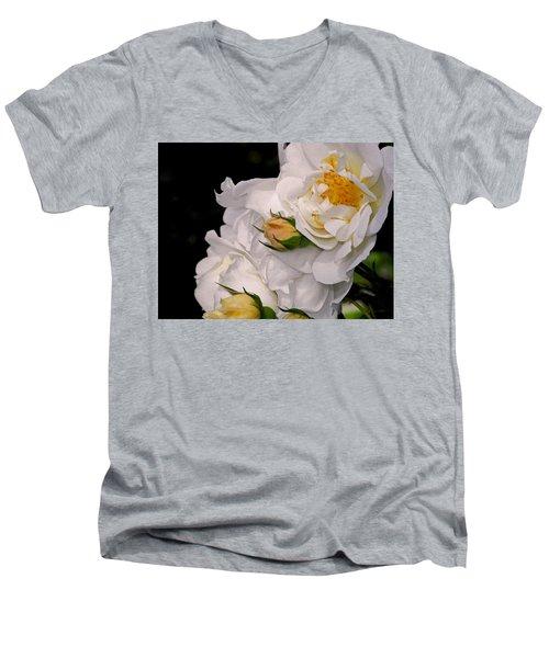 Growing Like The Wind Men's V-Neck T-Shirt by Lynda Lehmann