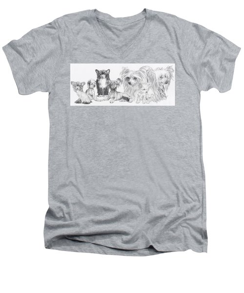 The Chinese Crested And Powderpuff Men's V-Neck T-Shirt