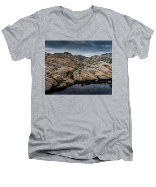 Grundsund, Sweden Men's V-Neck T-Shirt by Martina Thompson