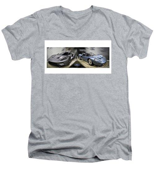 Gt40 Evolution Men's V-Neck T-Shirt