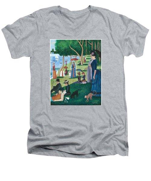 Guadalupe Visits Seuart Men's V-Neck T-Shirt