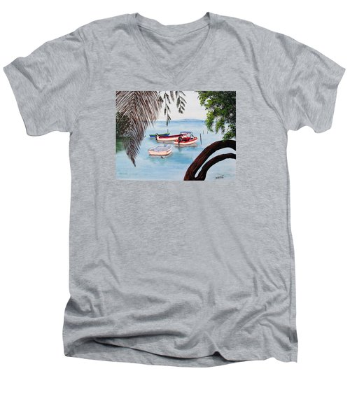 Guanica Bay Men's V-Neck T-Shirt