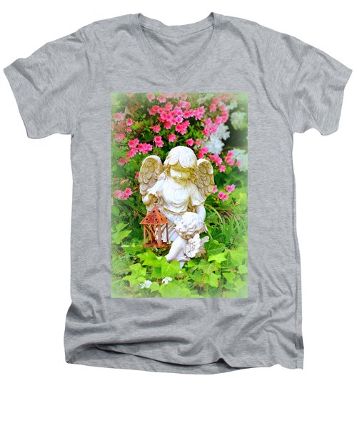Guardian Angel Men's V-Neck T-Shirt