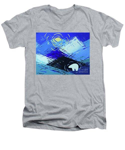 Guardian Bear Winter Men's V-Neck T-Shirt