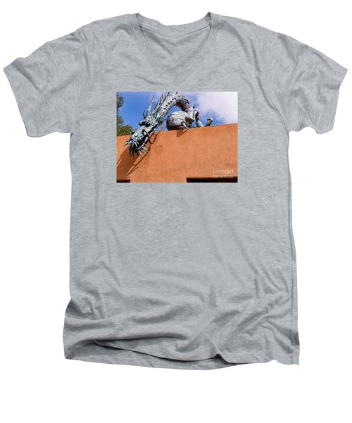 Santa Fe Guardian Dragon Men's V-Neck T-Shirt