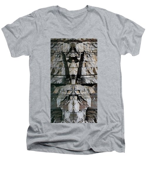 Men's V-Neck T-Shirt featuring the photograph Guardians Of The Lake by Cathie Douglas