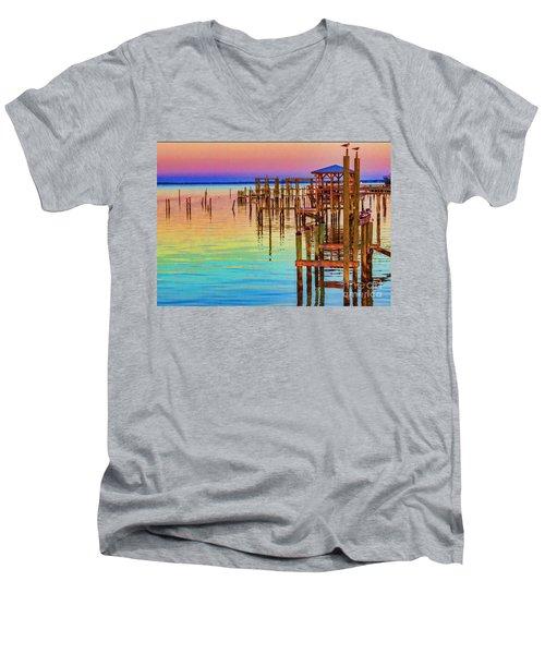 Guarding The Dock Men's V-Neck T-Shirt