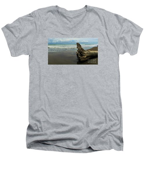 Men's V-Neck T-Shirt featuring the photograph Guarding The Shore by Pamela Blizzard