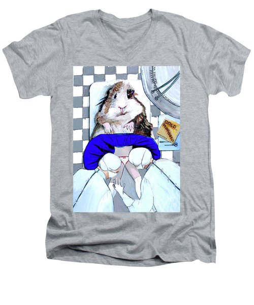 Guinea Pig Men's V-Neck T-Shirt