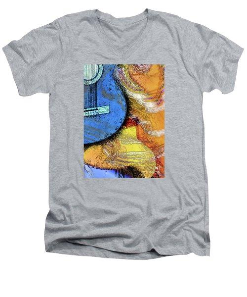 Guitar Music Men's V-Neck T-Shirt
