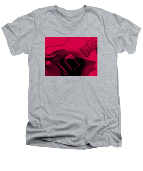 Guitar Watermelon Men's V-Neck T-Shirt