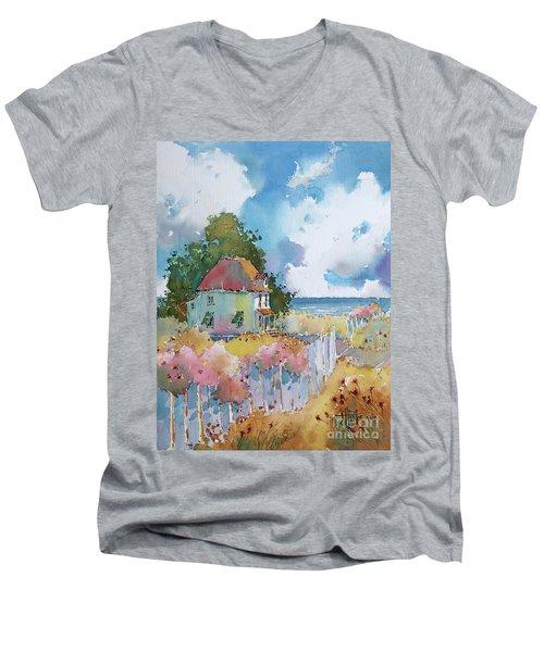 Gulf Coast Cottage Men's V-Neck T-Shirt