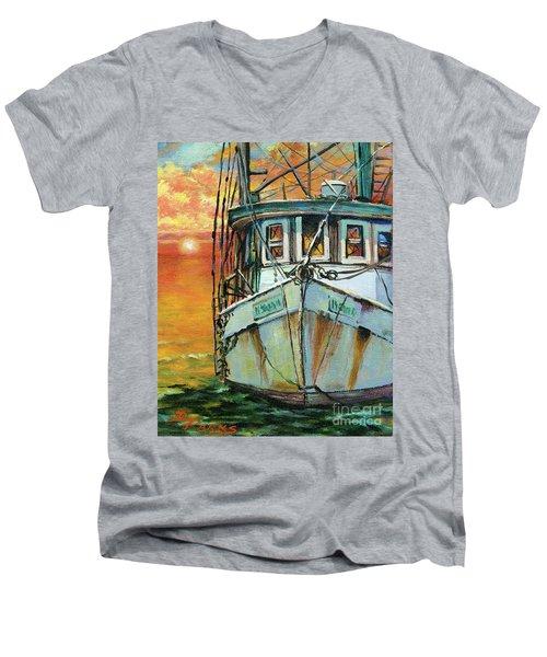 Gulf Coast Shrimper Men's V-Neck T-Shirt