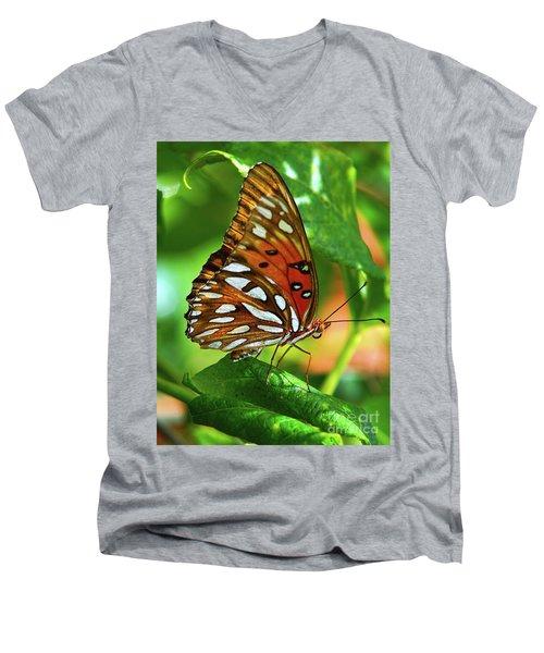 Gulf Fritillary Men's V-Neck T-Shirt
