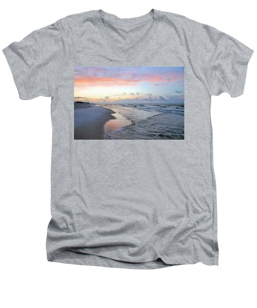 Gulf Shore Men's V-Neck T-Shirt by Kristin Elmquist