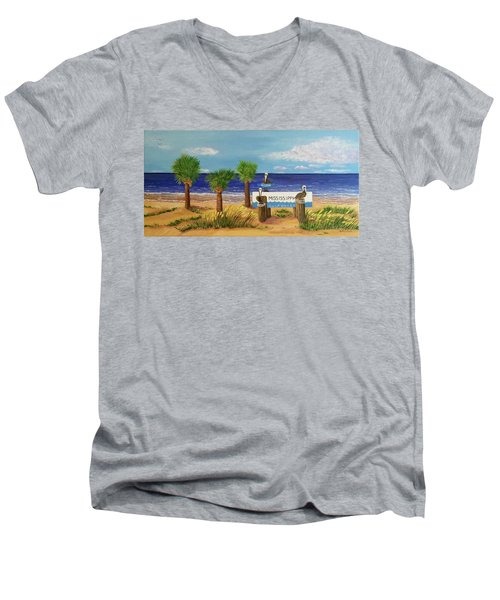 Gulf Shore Welcome Men's V-Neck T-Shirt