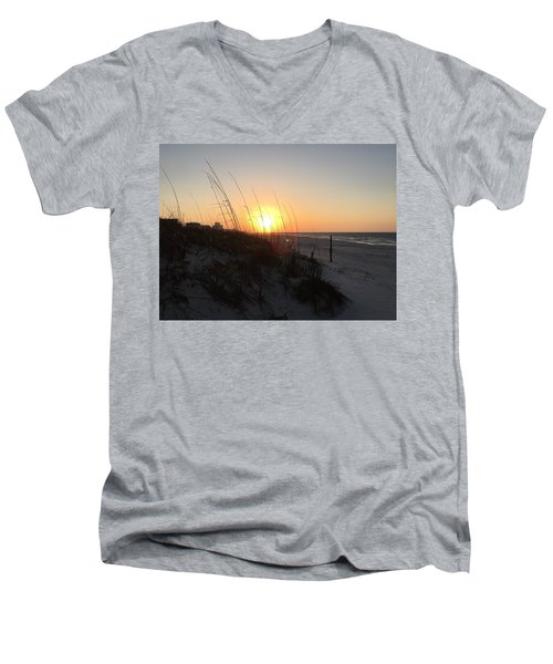 Gulf Shores Sunrise  Men's V-Neck T-Shirt