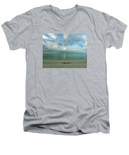 Gulf Storm Men's V-Neck T-Shirt by Judy Wanamaker