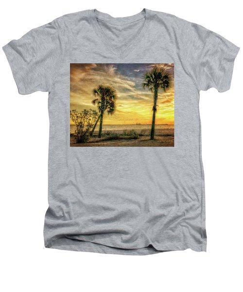 Gulfport Sunset Men's V-Neck T-Shirt