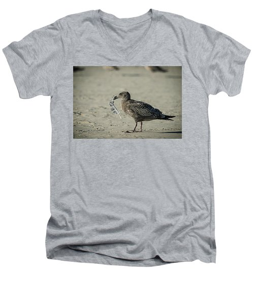 Gull And Feather Men's V-Neck T-Shirt