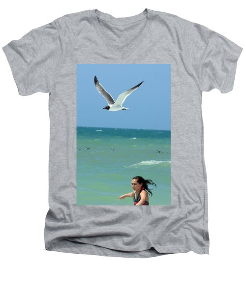 Gull And Girl Men's V-Neck T-Shirt