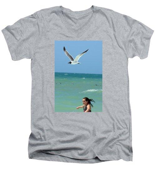 Gull And Girl Men's V-Neck T-Shirt