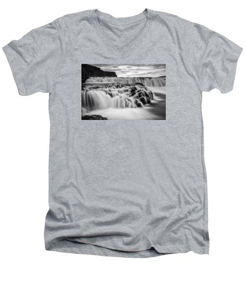 Gullfoss Men's V-Neck T-Shirt by Brad Grove