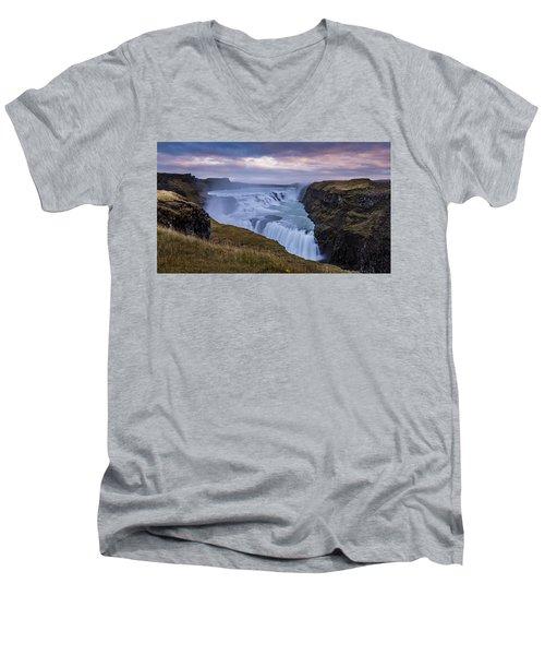 Gullfoss, Sunrise Men's V-Neck T-Shirt