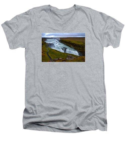 Gullfoss Waterfall #2 - Iceland Men's V-Neck T-Shirt