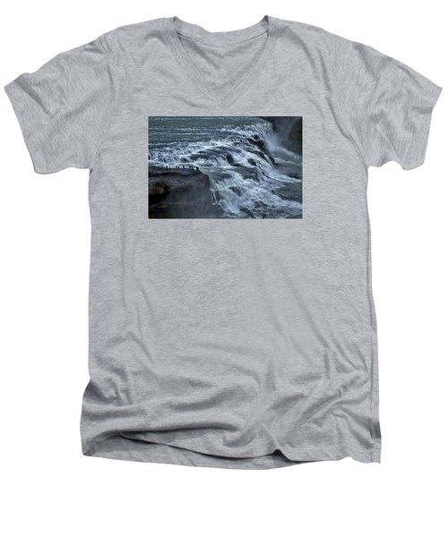 Gullfoss Waterfall #6 - Iceland Men's V-Neck T-Shirt