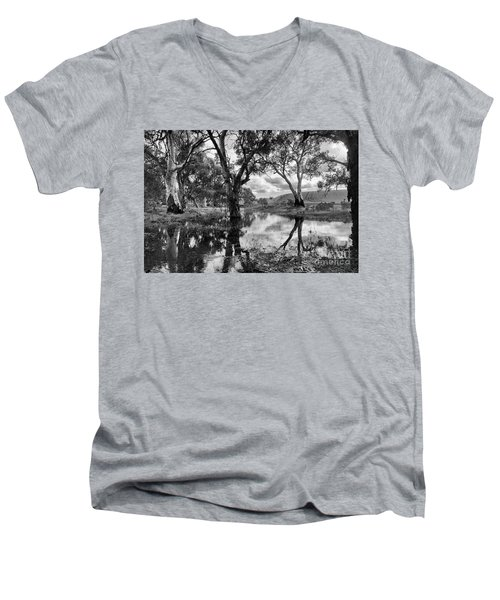Men's V-Neck T-Shirt featuring the photograph Gum Creek by Douglas Barnard