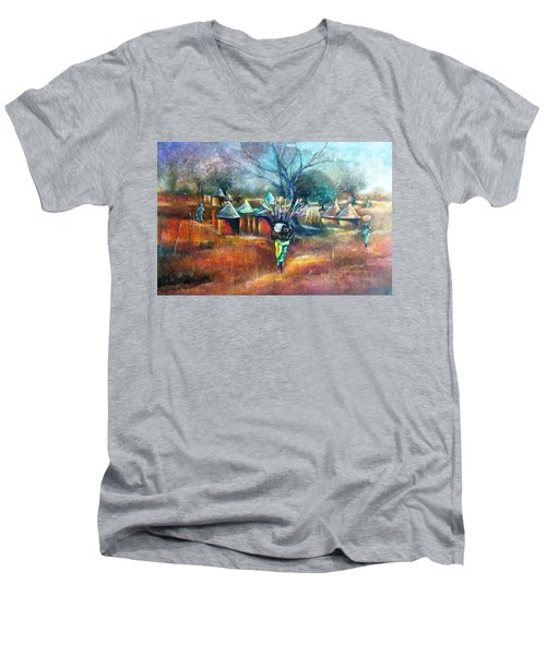 Gwari Village In Abuja Nigeria Men's V-Neck T-Shirt