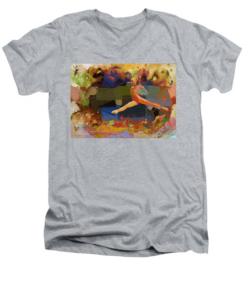 Gymnast Girl Men's V-Neck T-Shirt