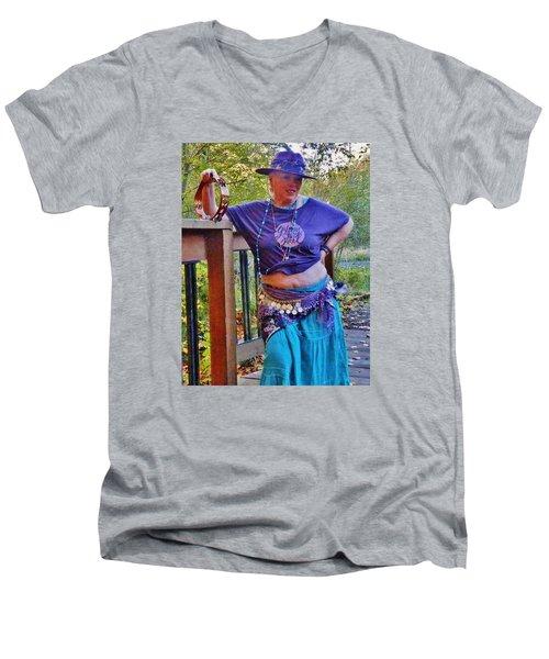 Gypsy Belly-dancer Men's V-Neck T-Shirt