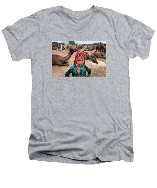 Gypsy Girl Men's V-Neck T-Shirt