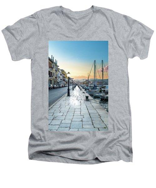 Gythion / Greece Men's V-Neck T-Shirt by Stavros Argyropoulos
